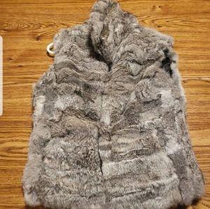 100% real, rabbit fur vest